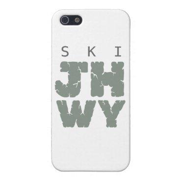 SKI Jackson hole Cover For iPhone SE/5/5s