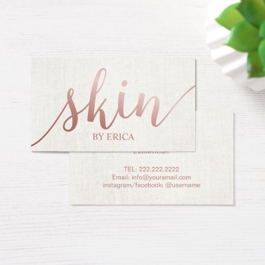 Esthetician business card wording ideas colourmoves