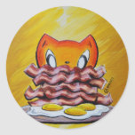 Skribbles: Because Bacon Classic Round Sticker