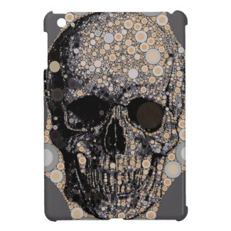 Skull Head Circle Pattern Ipad Mini Case