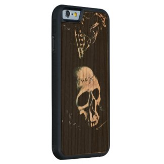 Skull Smoke Vape iPhone6 Wood Carved case Carved® Cherry iPhone 6 Bumper