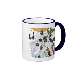 Sledding and Digging Out Coffee Mug