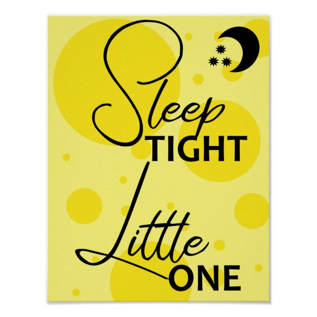 Sleep Tight Little One Baby Nursery Wall Art Print