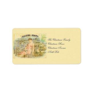 Sleeping Beauty Custom Address Labels