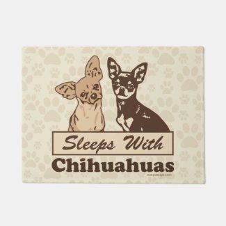 Sleeps With Chihuahuas Doormat