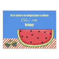 Slice of Watermelon Birthday Party Invitation