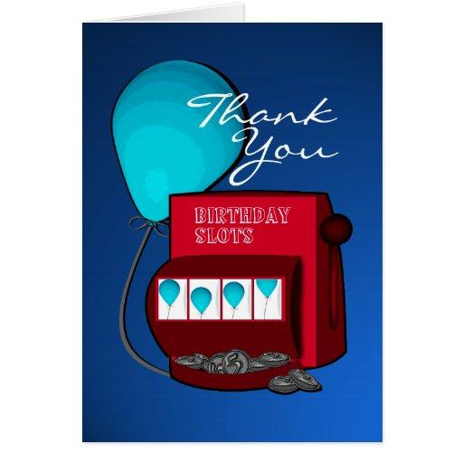 Slot Machine Birthday Thank You Card Zazzle