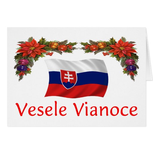 Slovak Christmas Greeting Cards Zazzle
