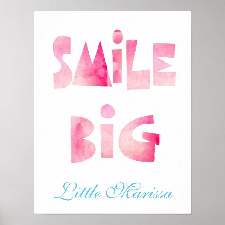 Smile Big Baby Nursery Wall Art Print Poster
