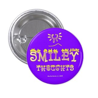 Smiley Thoughts (2b) Button/Pin