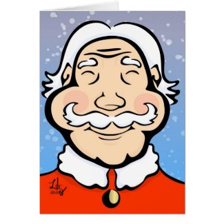 Smiling Old St Nick Card