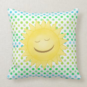 Smiling Sunshine: Pillow throwpillow
