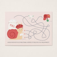 Snail Mail Activity Classroom Valentine Card