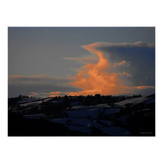 Snow Cloud over Newtown print