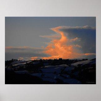 Snow Cloud over Newtown print