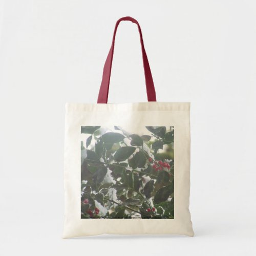 Snow Covered Holly bag