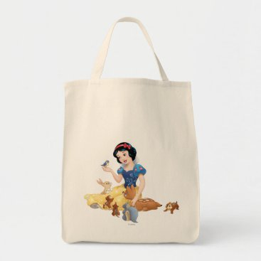 Snow White and the Forest Animals Tote Bag