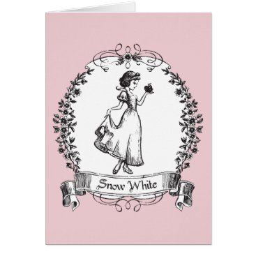 Snow White | Holding Apple - Elegant Sketch