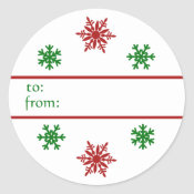 Snowflake Christmas Gift Tag Sticker