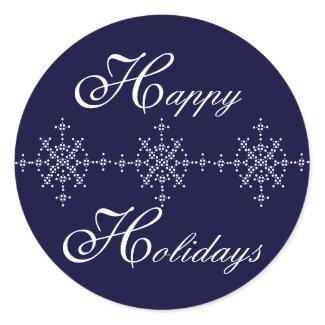 Snowflake Customize Happy Holidays Sticker