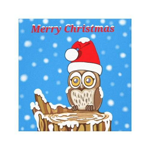 Snowflake the Owl at Christmas Canvas Print