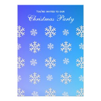 Snowflakes Party Invitations