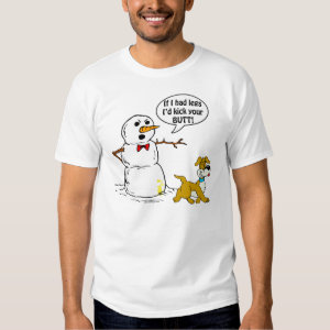 Snowman and Dog Humor T-shirt