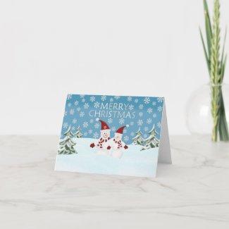 Snowman: Merry Christmas Greeting Card