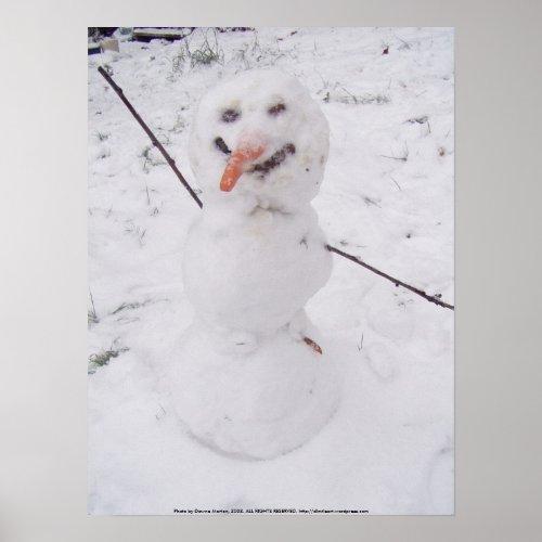 Snowman Pizzazz print