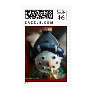 Snowman Postage Stamps
