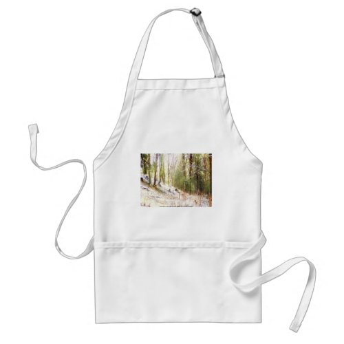 Snowy Sunlit Forest Glade #2 apron