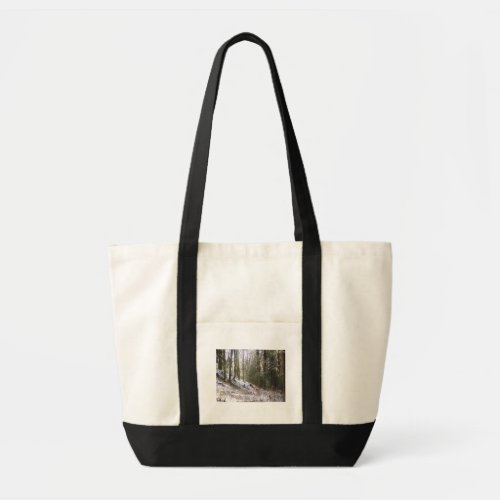 Snowy Sunlit Forest Glade bag
