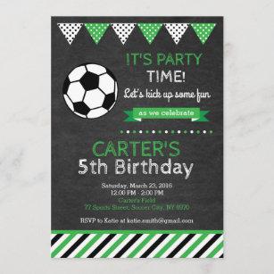 soccer birthday invitations zazzle