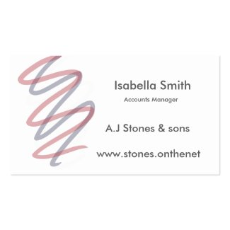 Soft pastel graphic grey text business cards