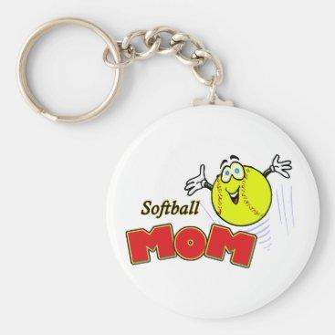 Softball Mom II Keychain