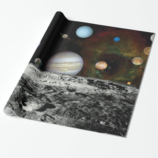 Solar System Voyager Images Montage Space Photos Wrapping ...