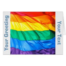 Solid Pride - Gay Pride Flag Closeup Card