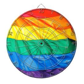 Solid Pride - Gay Pride Flag Closeup Dart Board
