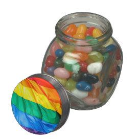 Solid Pride - Gay Pride Flag Closeup Glass Jar