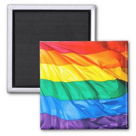 Solid Pride - Gay Pride Flag Closeup Magnet
