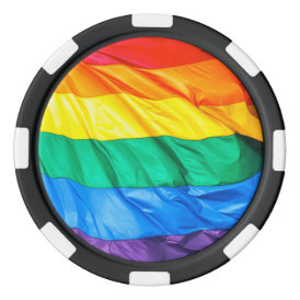 Solid Pride - Gay Pride Flag Closeup Set Of Poker Chips