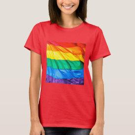 Solid Pride - Gay Pride Flag Closeup T-Shirt