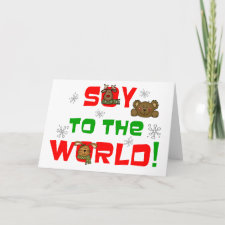 Soy to the World christmas Cards