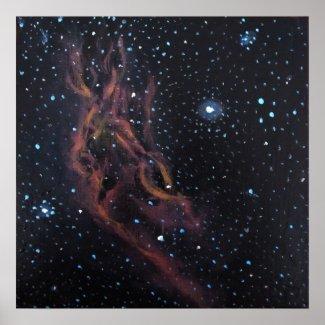 Space Art Poster - California Nebula by Alizey print