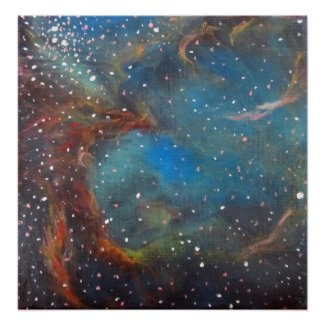 Space Art Poster - Large Magellanic Cloud Painting print