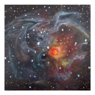 Space Art Poster - v838 Monocerotis Painting print