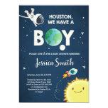 Space Baby Shower Invitation Boy Astronaut Rocket