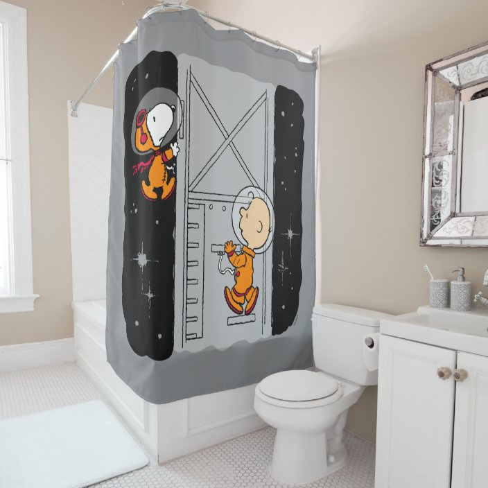 space snoopy charlie brown shower curtain zazzle com