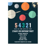 ❤️ Fun Space Countdown Birthday Party Invitation