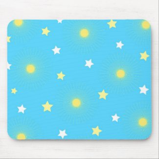 Spalshing stars - Mousepad